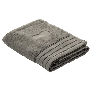 Heart anthracite hand towel