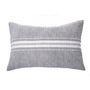 Cache oreiller gris Hampton