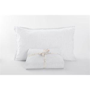 Linen white sheet set