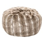 Pouf fausse fourrure Grizzly