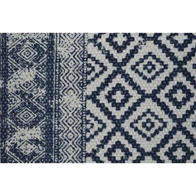 Carpette bleu inspiration Indienne Slavia