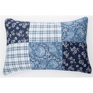 Cache oreiller bleu Lakeside