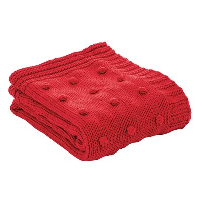 Cranberry red throw