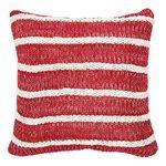 Peppermint striped cushion