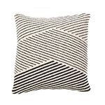 Coussin rayures noires Surya