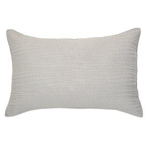Cache oreiller lin gris Lino