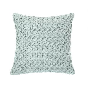 Beatrice sage knitted european pillow