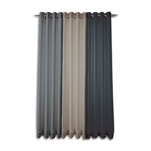 Modern tweed concrete curtain panel