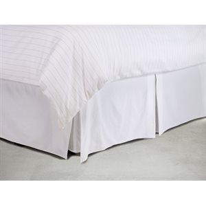 Beautiful white tailored bedskirt