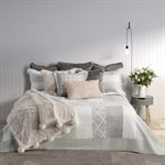 Lace grey and white quilt