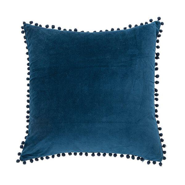 Coussin en velours bleu Velvet