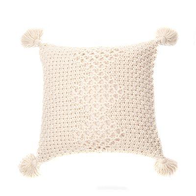 Coussin tricot naturel Houmous