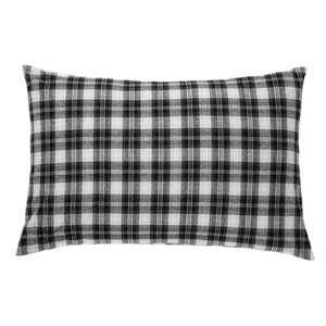 Billy black pillow sham