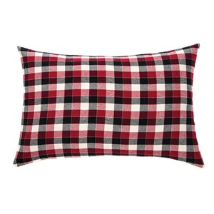 Billy red pillow sham