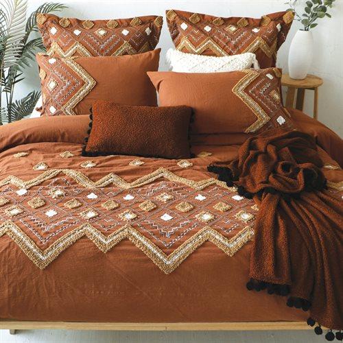 Housse de couette terracotta Aztek