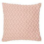Beatrice pink knitted european pillow