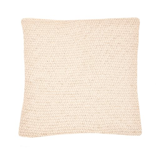 Bulky natural knitted european pillow