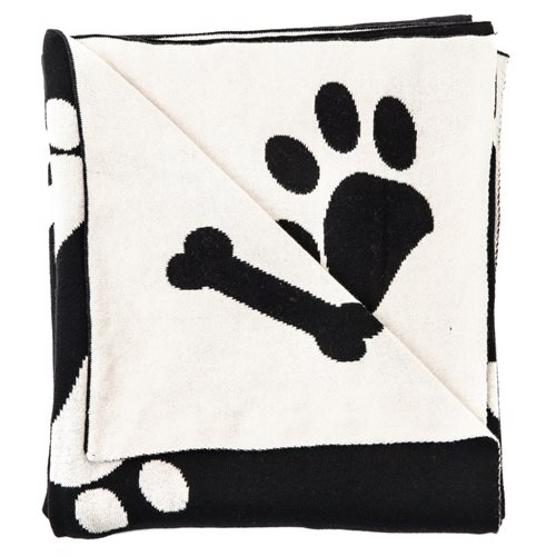 Cooper ivory and black throw
