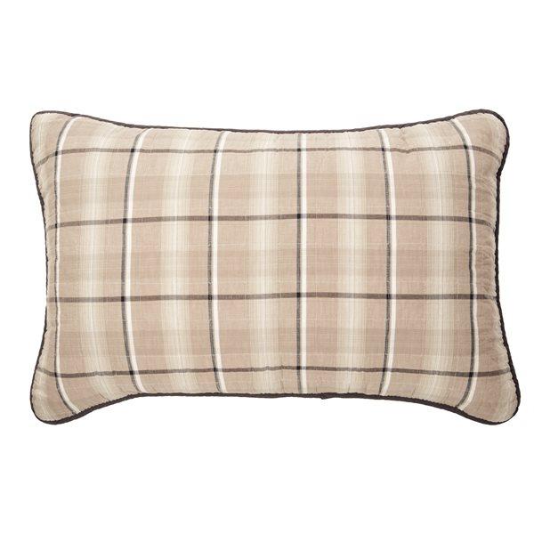Cache oreiller à carreaux Cabin