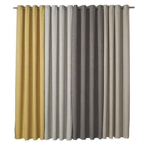 Panneau de rideau gris Carbonara