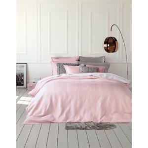 Cache oreiller en coton rose