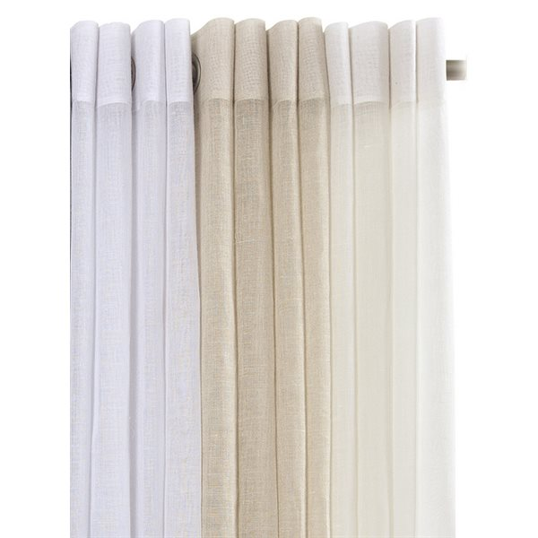 Condo white linen curtain