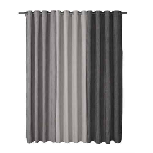 Denis charcoal curtain with grommets
