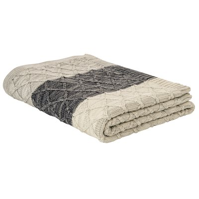 Enzo knitted throw