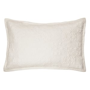 Eva ecru pillow sham
