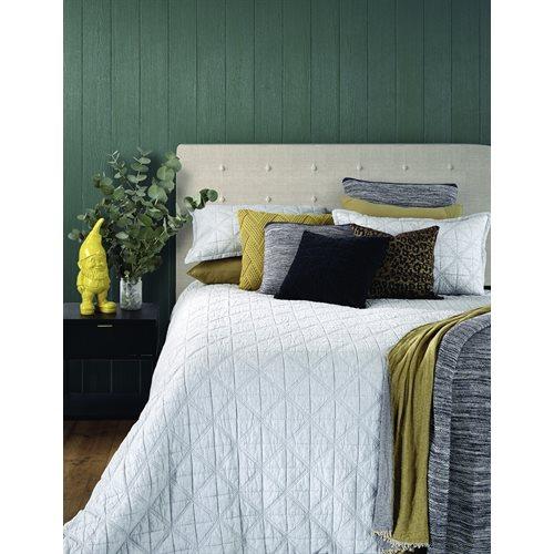 Grigio grey quilted duvet cover