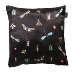 Insects black cushion