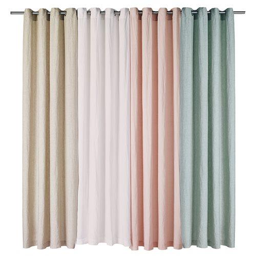 Linen white curtain