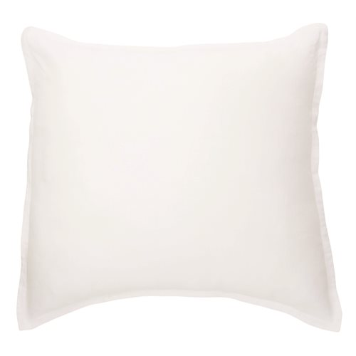 Linen white european sham