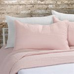 Lino pink pillow sham