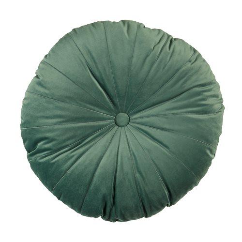 Coussin rond vert de gris Mandarin