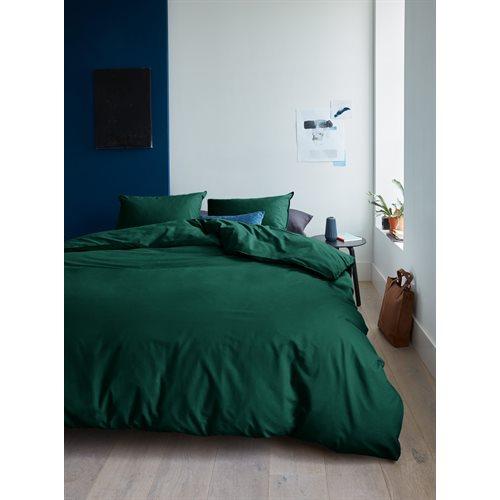 Organic dark green duvet cover