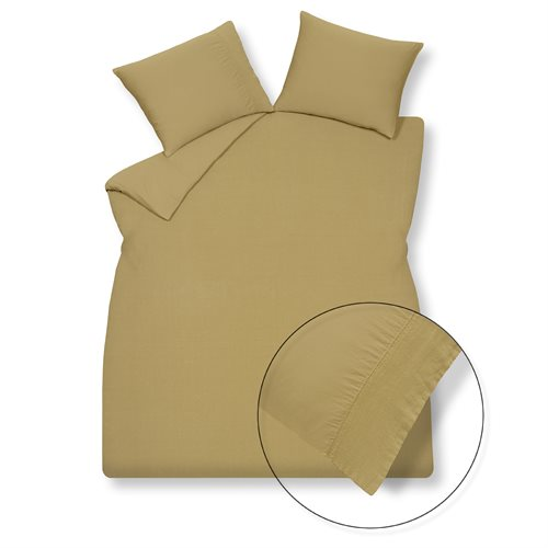 Pure mustard duvet cover