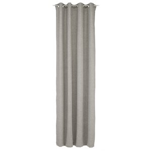 Jules grey curtain with grommets
