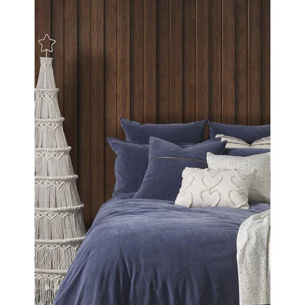 Saphyr blue velvet duvet cover