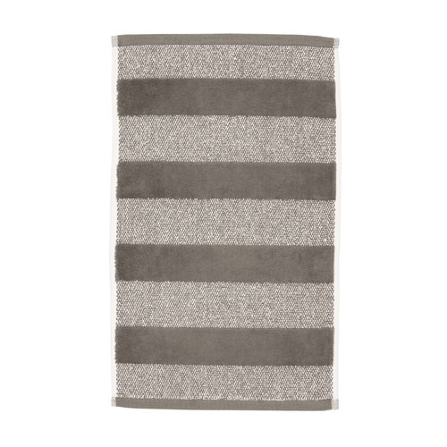 Spa striped anthracite guest towel