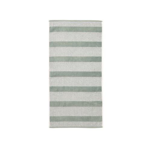 Spa striped sauge hand towel