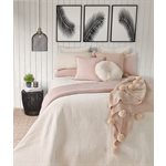 Velvet soft pink coverlet