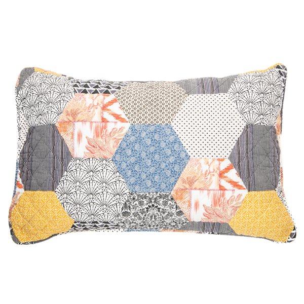 Abee patchwork pillow sham