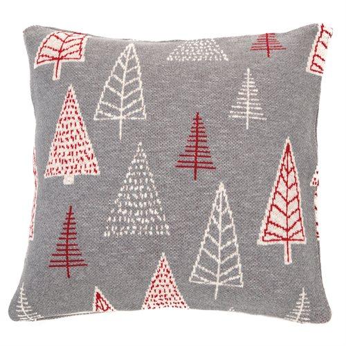 Alba grey cushion with fir trees