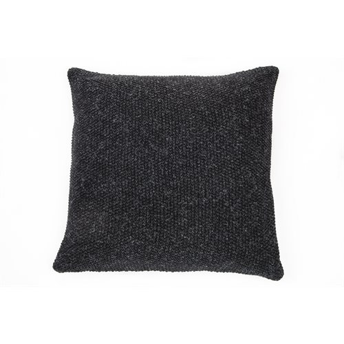 Ardoise charcoal knitted european pillow
