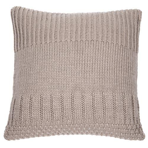 Coussin en tricot amande Baba