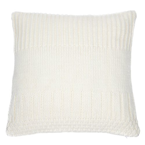 Oreiller européen en tricot ivoire Baba