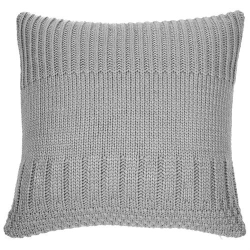 Coussin en tricot gris pâle Baba