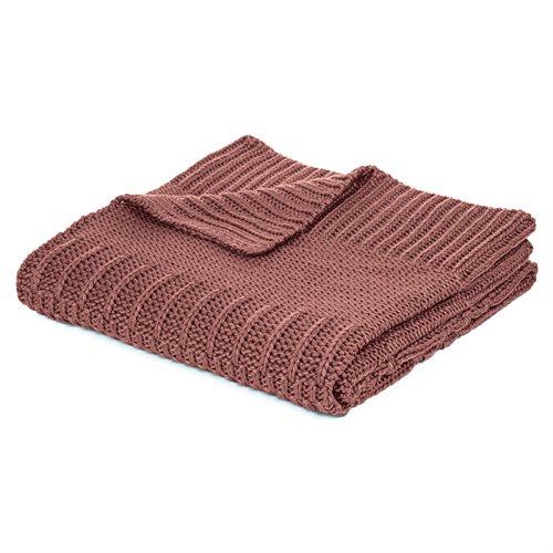 Jeté en tricot terracotta Baba