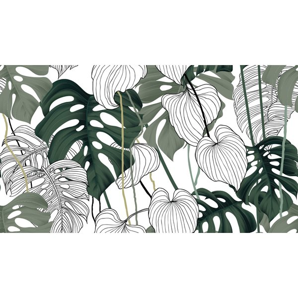 Bayou monstera leaves tablecloth